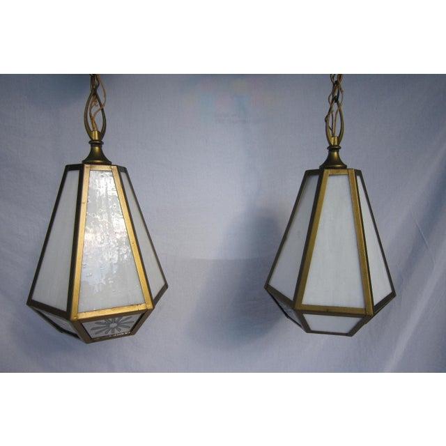 Mid Century Pendant Lights - Pair - Image 6 of 6