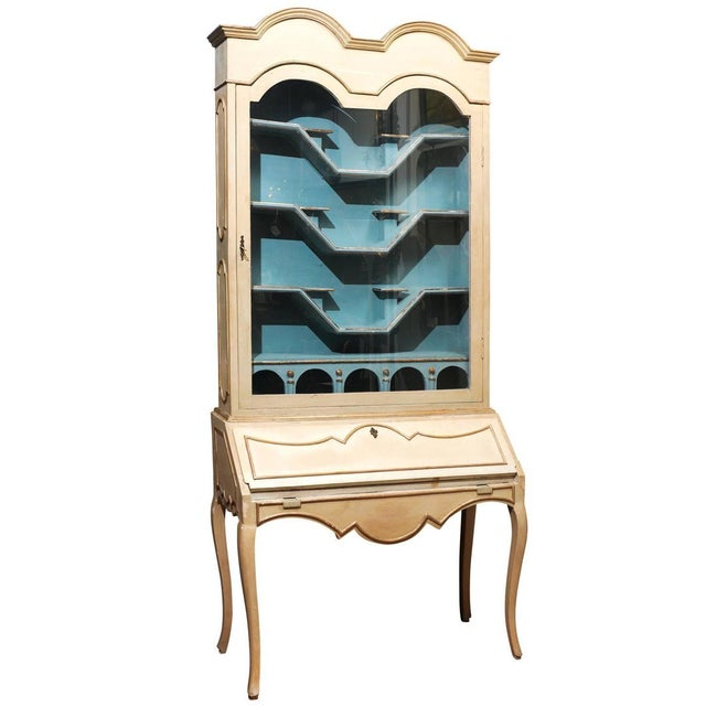 Image of Italian Painted Secretary and Display Cabinet