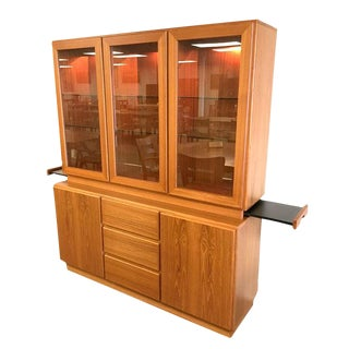 Mobican Teak China Cabinet