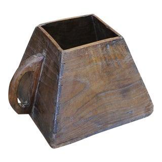 Primitive Wooden Rice Measurer