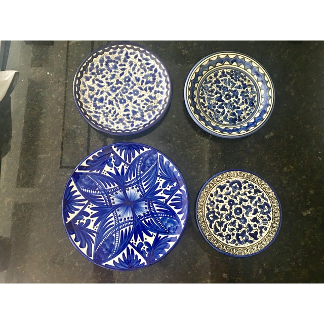 Image of Blue & White Wall Plates - Set of 4