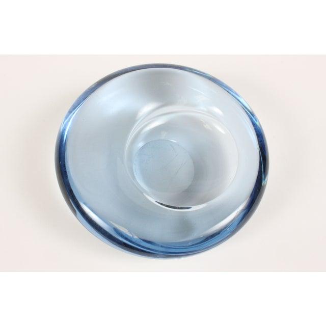 Image of Holmegaard Blue Glass Tilt Ashtray
