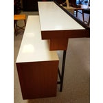 Image of Walnut and Decorative White Laminate Top Bar