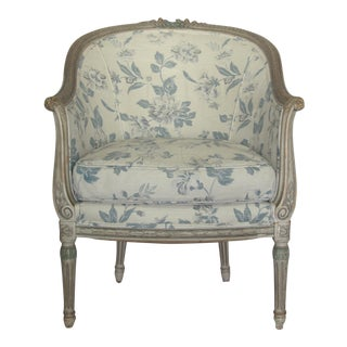 Antique Gustavian Upholstered Bergere Chair