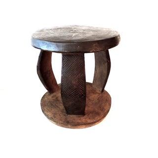 Makonde 3-Legged Stool/Side Table From Tanzania