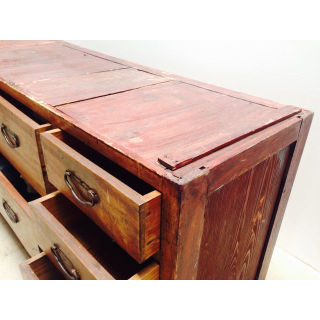 Image of Japanese Tansu Chest Low Dresser Camphor Wood
