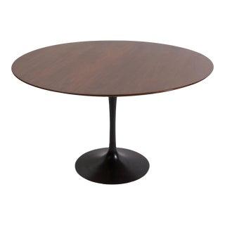 Eero Saarinen Walnut Dining Table with Cast Iron Tulip Base