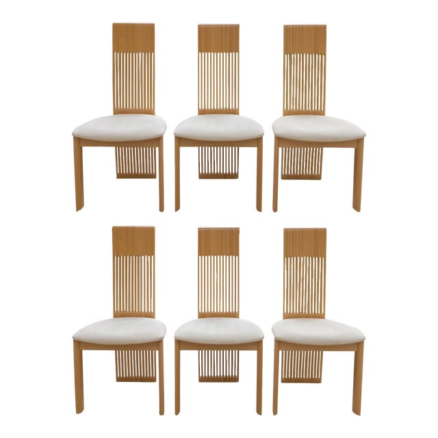 Costantini Maple Slatted Dining Chairs - Set of 6 - Image 1 of 10