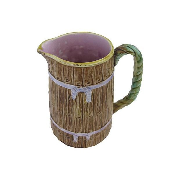 Image of Antique English Majolica Jug