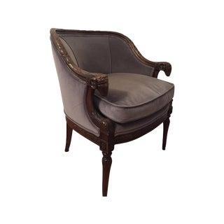 Henredon Carved Ram's Head Louis XVI Club Chair