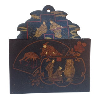 Chinoiserie Decorated Letter Holder