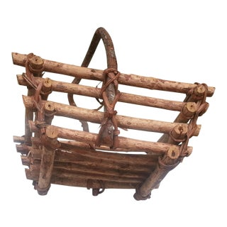 Primitive Wooden Basket