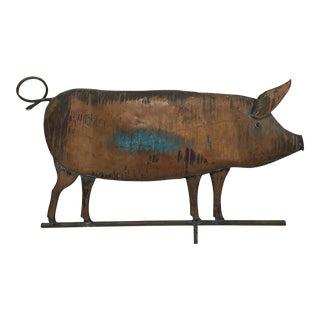 Vintage Copper Pig Weathervane