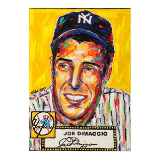 """Joe DiMaggio"" Pop Art Oil Painting by John Stango"