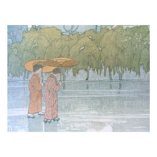 Vintage Japanese Woodblock by Hiroshi Yoshida - Image 3 of 5
