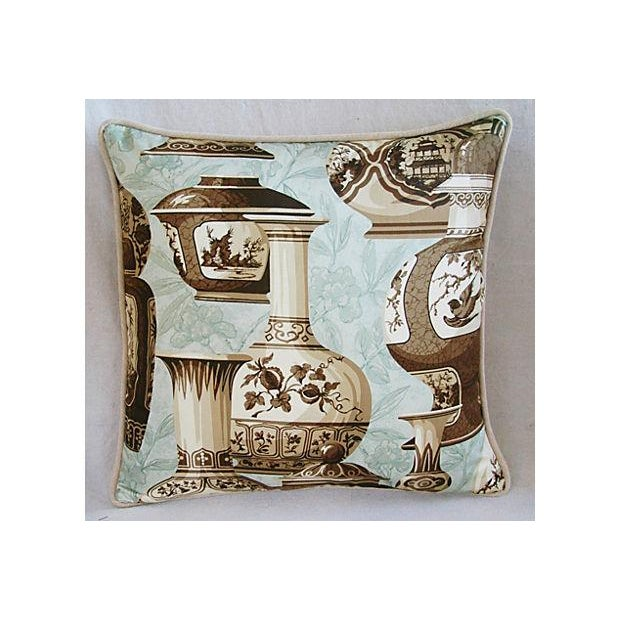 Custom Braemore Chinoiserie Vase Pillows - a Pair - Image 8 of 9