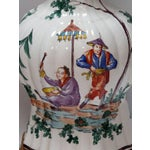 Image of Good Pair of French Moustiers Faience Chinoiserie Style Knobble Vase Lamps