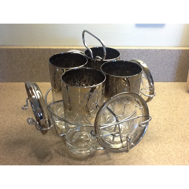 Chrome Caddy Silver Ombre Glasses & Coasters Set - Image 2 of 7