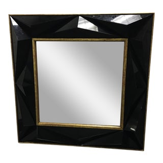 Multi-Dimensional Black Glass Wall Mirror