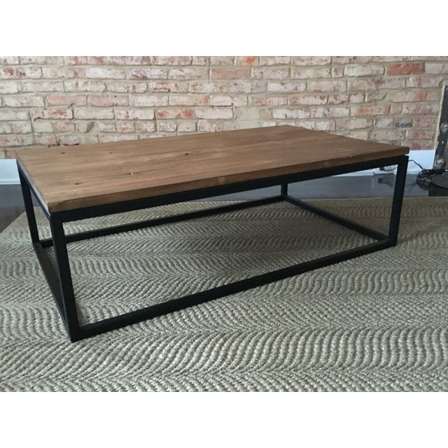 ABC Carpet & Home Wood and Steel Coffee Table - Image 2 of 8