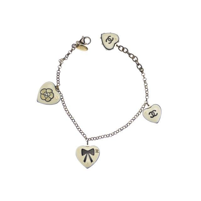 Image of Chanel Heart Charm Bracelet