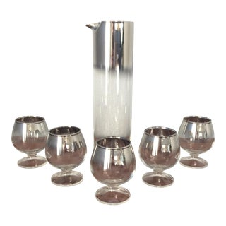 Mid-Century Silver Fade Cocktail Set
