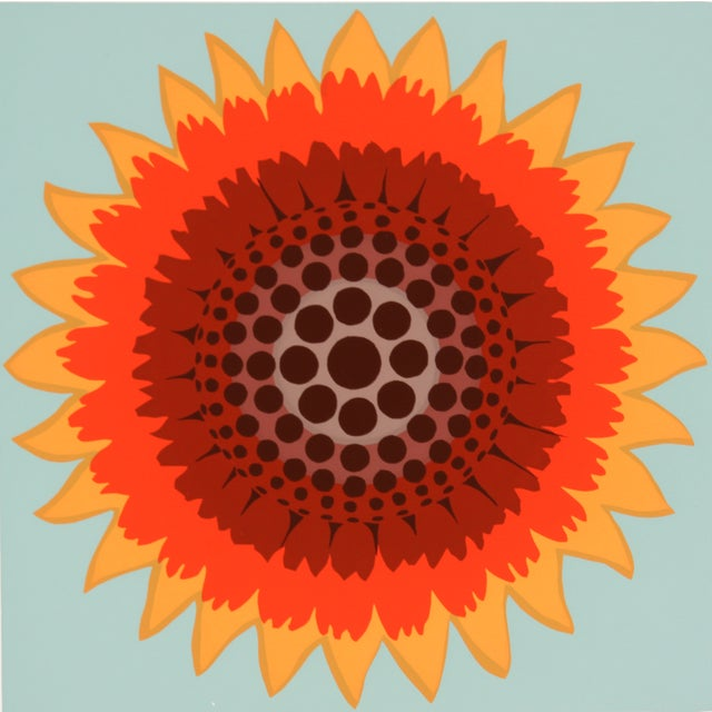 Gaillardia Abstract Screen Print by T. Confer, '75 - Image 3 of 7