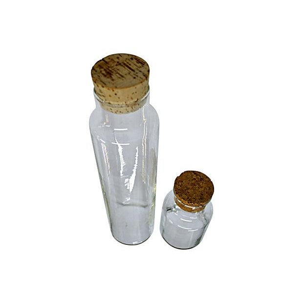 Image of Clear Glass Canister - Pair