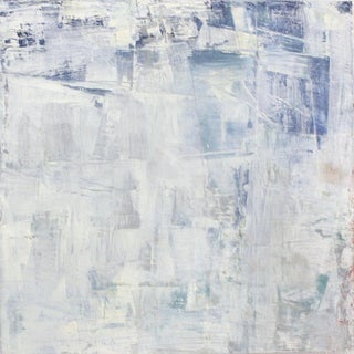 Blues & Whites Abstract Oil Painting