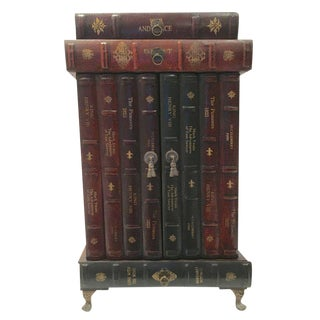 Stack of Books Motif Side Cabinet