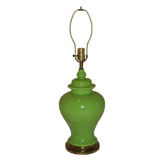 Vintage Green Ginger Jar Lamp