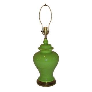 Vintage Green Ginger Jar Lamp