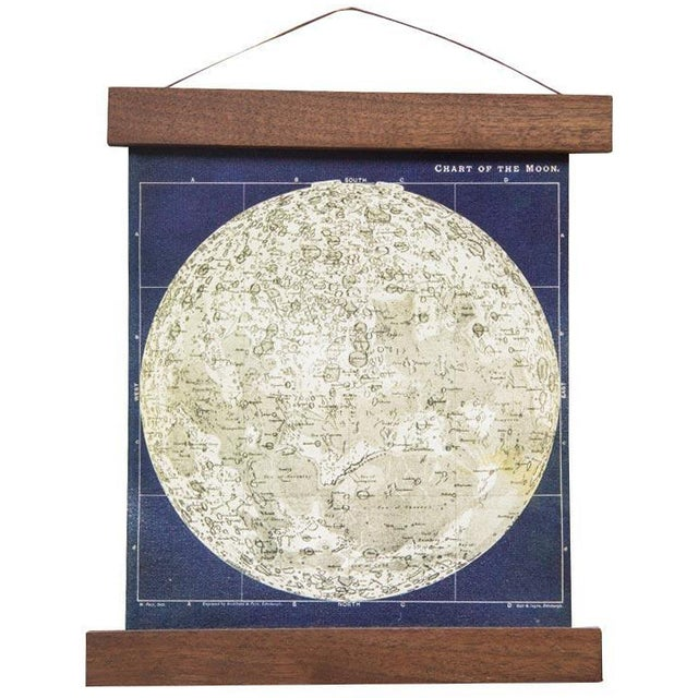 Image of Antique Moon Chart Pull Down Revival Print