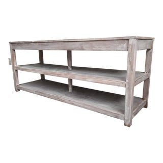 Rustic Wooden Media Console