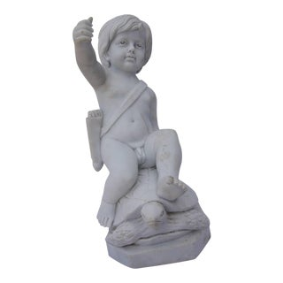 """Set of Marble Statues of Putties, """"Four Seasons"""" - Set of 4"""