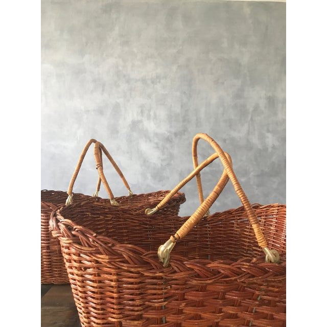Rattan Carrying Baskets - A Pair - Image 5 of 7