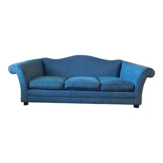Bernhardt Blue Camel Back Sofa