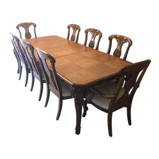 Carved Wooden Dining Set