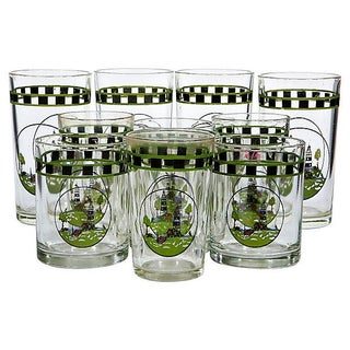Lighthouse Glass Tumblers - Set of 11