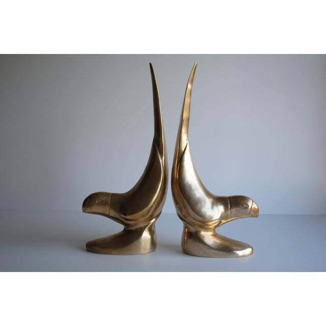 Vintage Brass Bird Bookends - Pair - Image 4 of 6