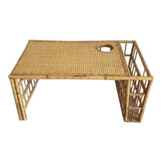 Vintage Bamboo Rattan Breakfast Tray