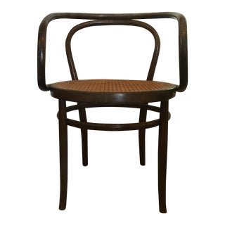 Mid-Century Bentwood and Cane Chair
