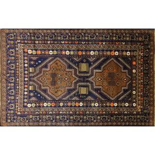 "Persian Baluch Wool on Wool Area Rug - 3'10"" x 5'10"""