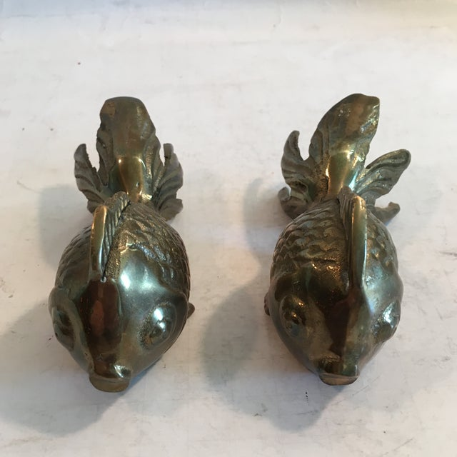 Image of Vintage Brass Fish Figurines - A Pair