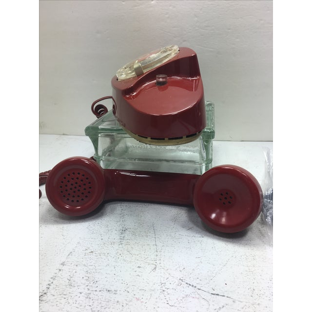 Image of Vintage Red Princess Rotary Dial Telephone