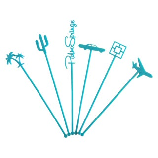Palm Springs Party Drink Stirrers in Turquoise - 6