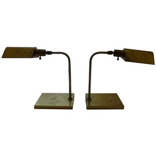 Vintage Kovacs Table Pharmacy Lamps - A Pair
