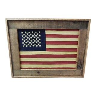 Folk Art Style Framed American Flag