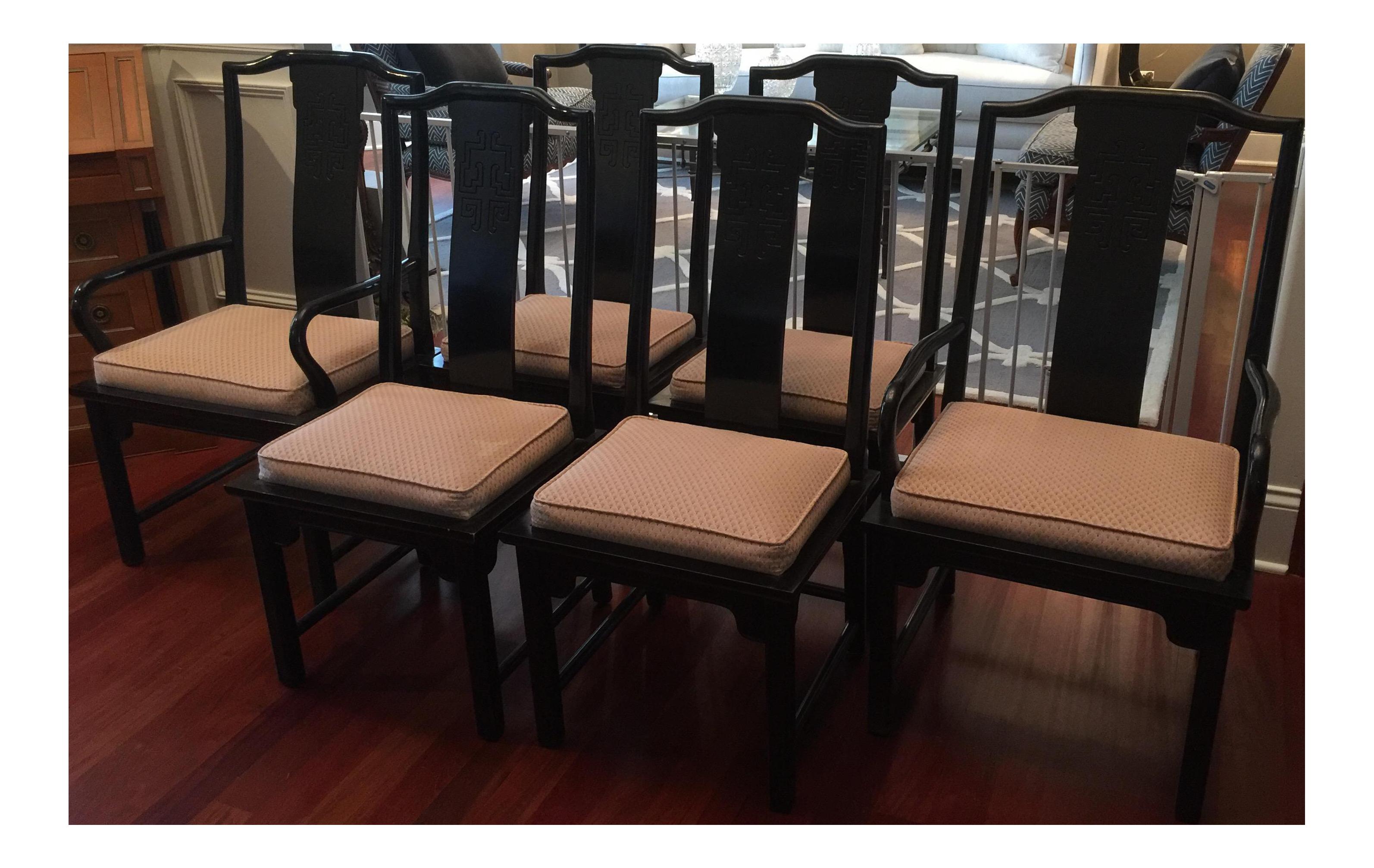 Century Furniture Chin Hua Dining Chairs Set of 6 Chairish