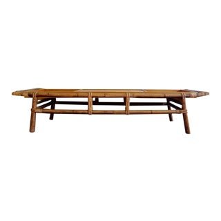 Vintage Ficks Reed Far Horizon Bamboo & Rattan Coffee Table